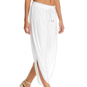 NWT! Laundry by Shelli Segal White Cover Up Pants